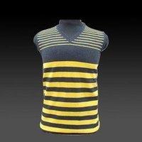 Yellow Sleeveless Cotton Sweater