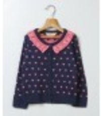 Heart Print Knitted Sweater