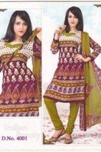 Synthetic Salwar Suit Dress Material