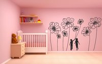 Flowers As Balloons Wall Art Painting