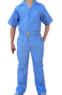Blue Poly And Cotton Cheap Work Wear Coveralls