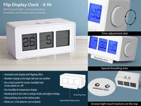 Flip Display Clock With Touch Light Snooze Function