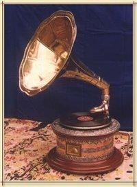 Round Base Gramophone