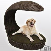 Outdoor Wicker Dog Basket