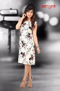 Partywear Knee Length One Piece Dress