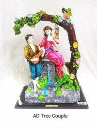 Ad Tree Couple Resin Idol