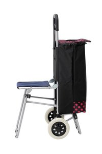 Shopping Trolley Bag With Sheet Black