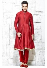 Pure Silk Red Pure Silk Indo Western