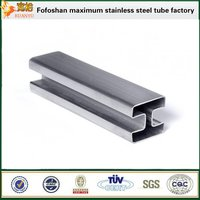 Tp304 Special Type Stainless Steel Double Slot Pipes