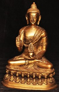 Brass Buddha Idol Sculptures