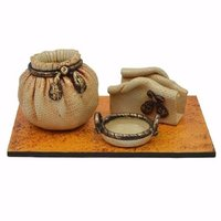 Wooden And Paper Mache Office Set