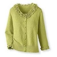 Frilled Neck Ladies Sweater