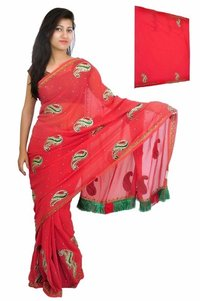 Party Saree With Blouse