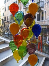 Antique Colorful Glass Balloons Silver And Gold Mercury
