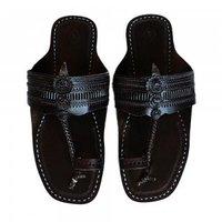 Black Color Handmade Leather Sandal For Men