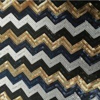 5mm Sequin Fabric Chevron