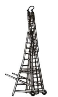 Trolley Telescopic Tower Ladder