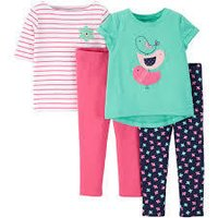 Baby Girl T-Shirts And Leggings