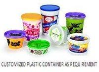 Plastic Gourmet Ice Cream Container