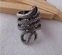 Silver Plated Snake Ring