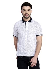 Men'S Collar T-Shirt Print