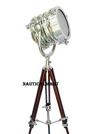 Chrome Search Light With Tripod Stand<