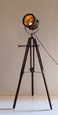 Tripod Search Light With Wooden Stand