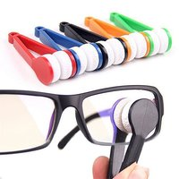 Mini Portable Spectacles Microfiber Cleaner Brushes