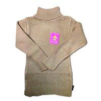 High Neck Plain Sweater