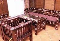 Domestic Wooden Sofa Set