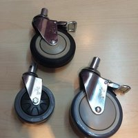 Double Brake Rubber Casters