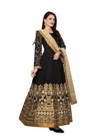 Black Colored Banglori Silk Suit