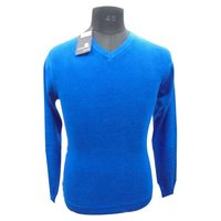 Mens Blended Wool Pullover