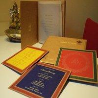 Royal Khaki Wedding Card