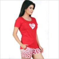 Ladies Satin Pyjama Set PJ's Cerise Full Length Womens Blue Cream ...