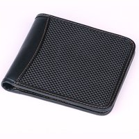 genuine RFID Carbon Fiber Bifold Wallets For Men