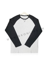 Mens Black And Grey Color Full Sleeves T Shirts