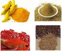 Turmeric Coriander Chilli And Pepper Powders