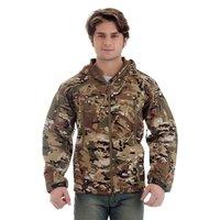 Full Sleeve Combat Print Hooded Regular Fit Cotton Jacket For Men