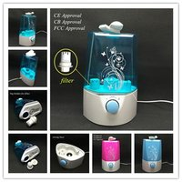 Portable Ultrasonic Humidifier With Filter And Led Night Light