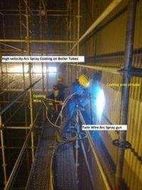 Twin Arc Wire Coating On Boiler Tubes
