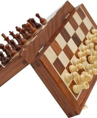 Ultimate Wood Magnetic Travel Chess Set