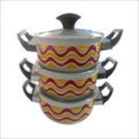 Vitreous Enamel Cookware With Lid