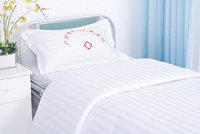 Hospital Bed Sheet With Printed Logo
