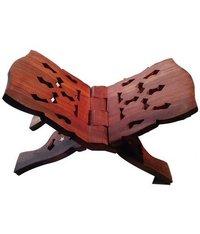 Desi Karigar Brown Wooden Book Stands