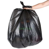 Black Garbage Trash Bag