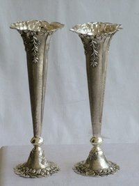 Silver Flower Pots