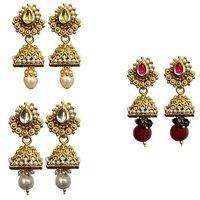 Gold Plated Ethnic Combo Jhumaki Earring