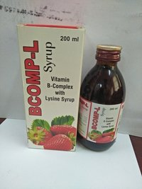 Bcomp-L Vitamin B Complex With Lysine Syrup