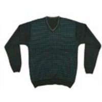 Mens V-Neck Cotton Sweater